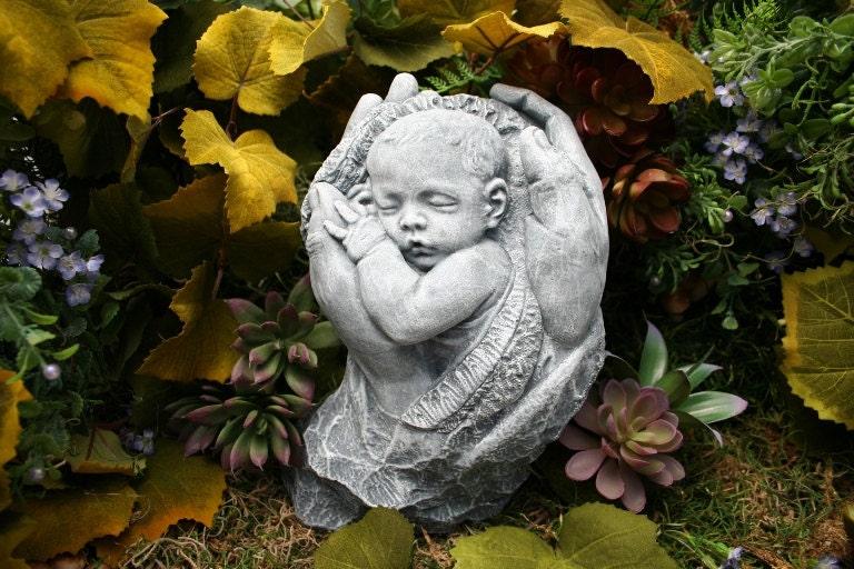 Precious Baby Sculpture Memorial Concrete Outdoor Garden