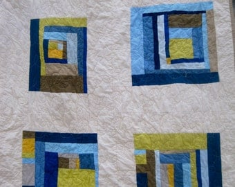 Gee's Bend Inspired Queen Size Quilt in Your Colors