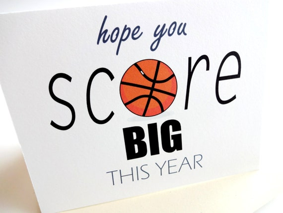 items similar to basketball birthday card  hope you score big, Birthday card