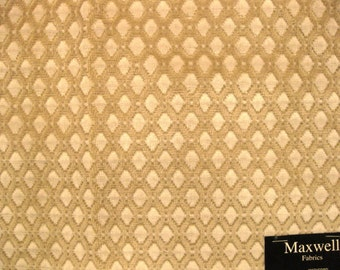 Maxwell Chenille Tapestry Taupe Diamond Designer Fabric Sample Upholstery