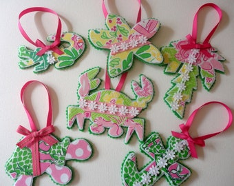 8 Lilly Pulitzer Ornaments