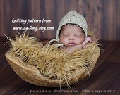 Newborn Rounded Back Bonnet Knitting Pattern, PDF 136, INSTANT DOWNLOAD -- Permission to Sell Hats -- Over 16,000 patterns sold