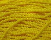 11/0 Dark Yellow Opaque Preciosa Czech Glass Seed Beads 17 grams