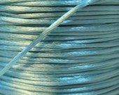 Turquoise Satin Rattail Cord 1mm 6 yards for Macrame Kumihimo Knotting