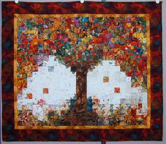 Tree Of Plenty Landscape Wall Quilt Wall Hanging Art Quilt