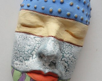 Celebrate the Colors of Life Ceramic Sculpture Mask