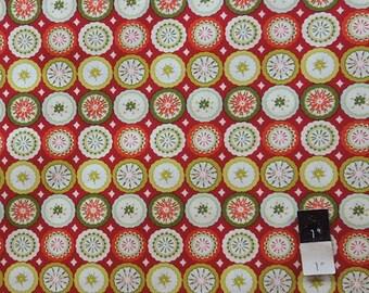 Dena Designs DF94 Kumari Garden Lalit Red Cotton Fabric 1 Yard