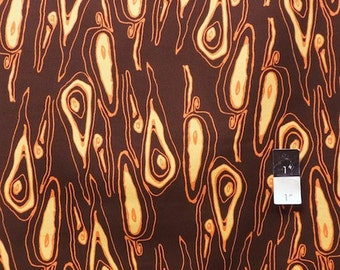 Tina Givens TG83 Opal Owl Grain Chocolate Cotton Fabric 1 Yard