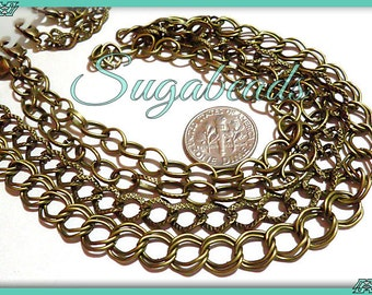 Bulk 12 Pack Mixed Charm Bracelets - Antiqued Brass Bracelet Chains - Mixed Styles (CBB1)