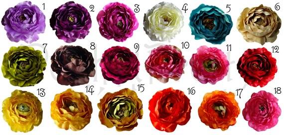 5 PCS Medium Ruffle Ranunculus Rose flowers - 3 inches- PICK COLORS