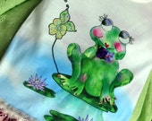 Francine La Froggie  back to school Vintage lace embellished T shirt by Rosanna Hope for Babybonbons