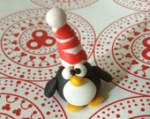 Christmas Penguin Polymer Clay Creation by bdbworld on Etsy No 18