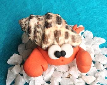 Hermit Crab - Paguro Bernardo (No 1) - A Little Polymer Clay Creation