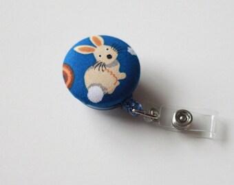 Badge Reel Id Holder little bunny
