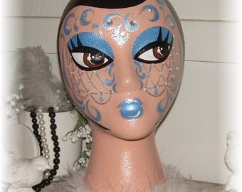 Landfill Ladies - Hand Painted Mannequin Display Head / Fantasy Faces - Venetian
