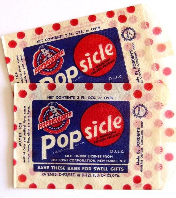 Vintage Popsicle Bags (2) - 1950s packaging