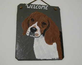 Beagle Welcome Slate