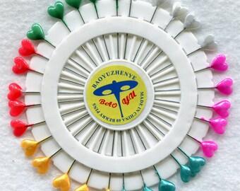 Blocking Pins 30 per Package Nice Long Shafts Heart Shape Tops Handy Convenient