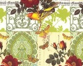 Made In Italy Authentic Florentine Paper Traditional Print Birds And Butterflies By Rossi  R203