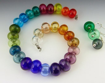 a custom lampwork hollow bead    you pick the color