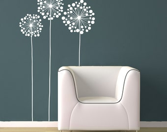 3 LARGE flowers - Vinyl Wall Decal Design Room Decor Wall Decor