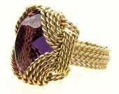 Handmade 14kt Gold Filled Wire Wrap Amethyst Ring