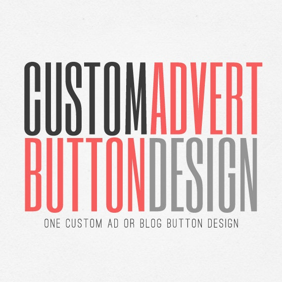 Ad button blog button custom advertisement advert
