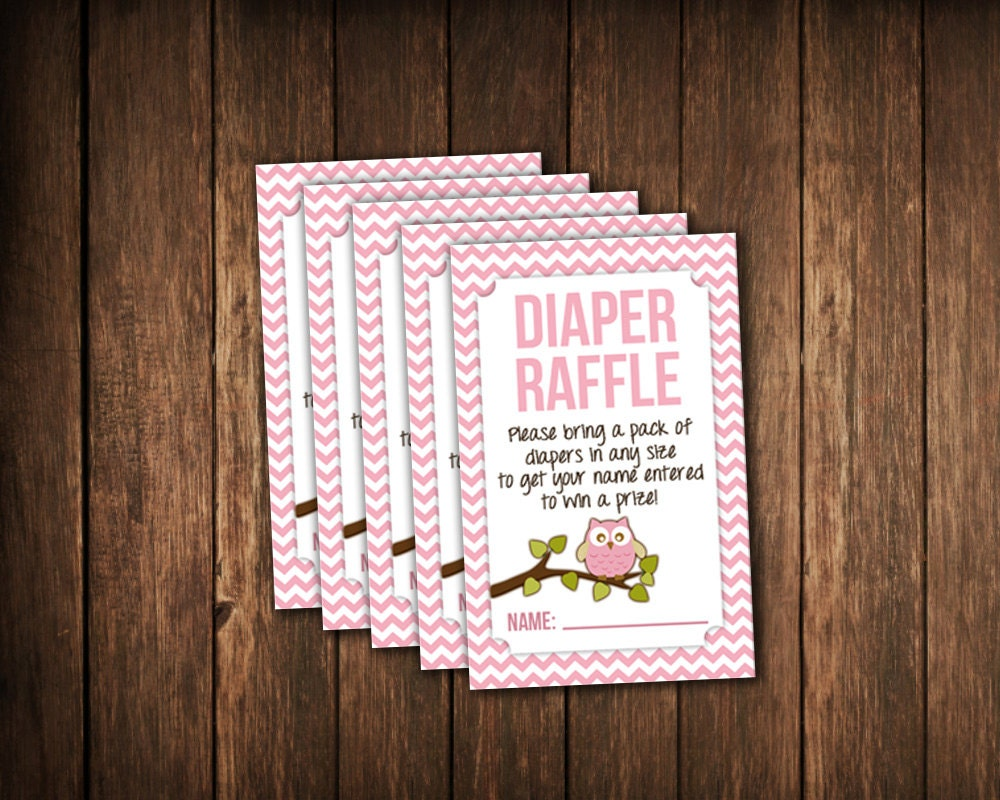 owl baby shower diaper raffle tickets jpg printable file
