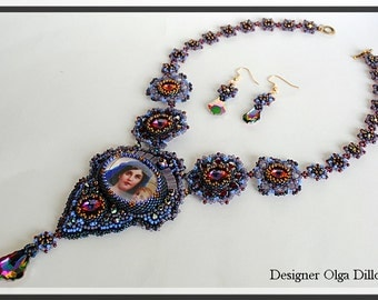 Madonna. Beaded Necklace and Earrings