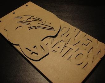 Football Scrapbook - Baltimore RAVENS Superbowl Team Spirit - custom Sport scrapbook chipboard album BLANK Raw