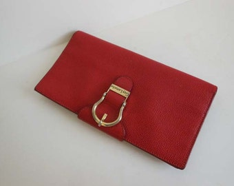 80s wallet / Buckle Up Vintage 1980's Vintage GUY LAROCHE Paris Red Wallet