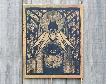 The Light 8X10 Wood Screenprint