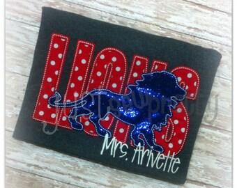Lions Sillouette Embroidery Applique Design