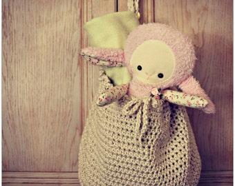 Download Now - CROCHET PATTERN Cotton Hanging Storage Basket or Gift Bag - Pattern PDF