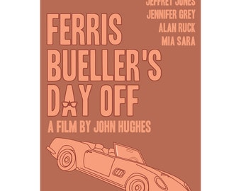 Ferris Bueller's Day Off movie poster in various sizes
