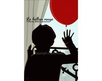 Retro print Le Ballon rouge poster in various sizes