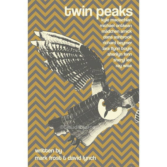 Twin Peaks 12x18 inches poster print