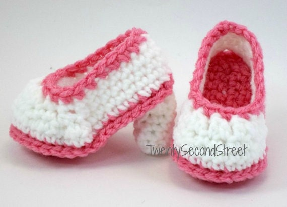 Baby High Heels Crochet Baby Booties Shoes by TwentySecondStreet