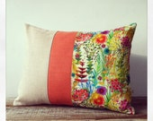 Bright Floral Decorative Pillow - Tresco Liberty Print - Watercolor Flowers - Summer Home Decor by JillianReneDecor - Tresco Tawn Lawn - JillianReneDecor