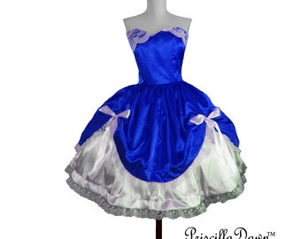 Custom in your size Alternative Doll inspired Wedding Bridal Tea Dress gown in any color choice