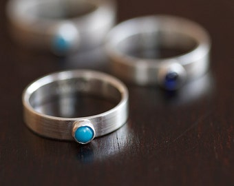 Personalized Birthstone Ring (E0347)