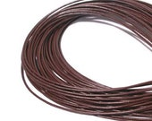 1.5mm Brown Greek Leather Round Cord 42732 (5 meters),  Jewelry Cording, Necklace Cord, Bracelet Cording, 1.5mm Cording, 1.5mm Leather Cord