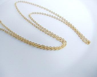 1 mt Matte 22K Gold Plated Base Cross Chain - Chain 1x1mm (018-035GP)