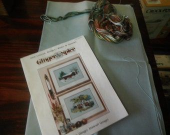 Counted Cross Stitch Kit Set Covered Bridges 8906 Winter and Summer Ginger and Spice Ginger Dancull Gouger