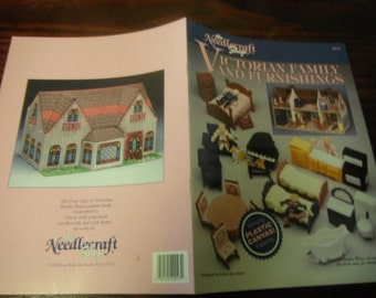 Plastic Canvas Patterns Victorian Family and Furnishings Needlecraft Shop 90PT2 Plastic Canvas HTF