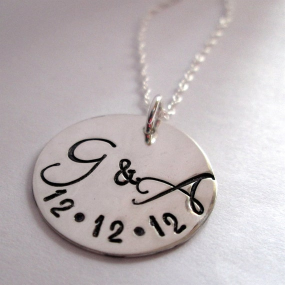 items similar to personalized necklace - couples necklace - monogram jewelry