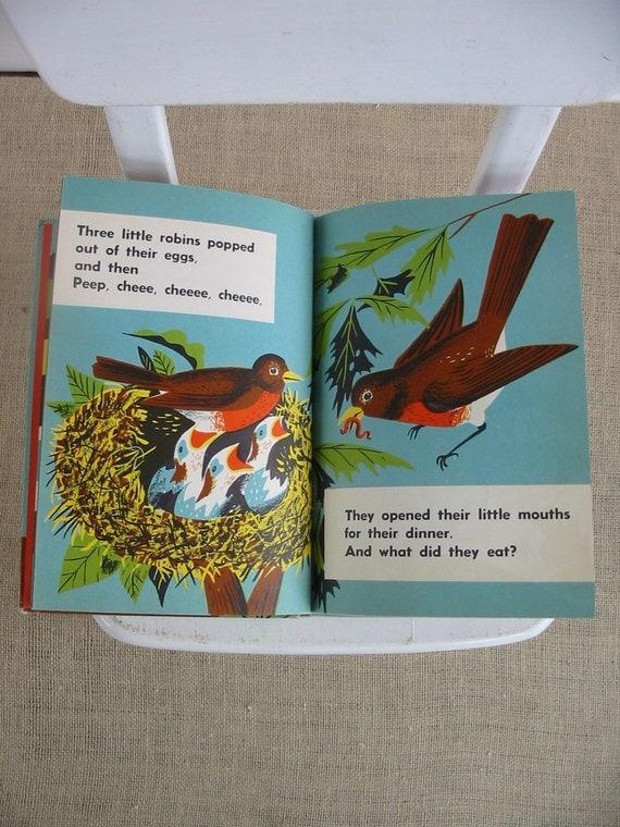 Vintage Child Picture Book Summer Animal Retro