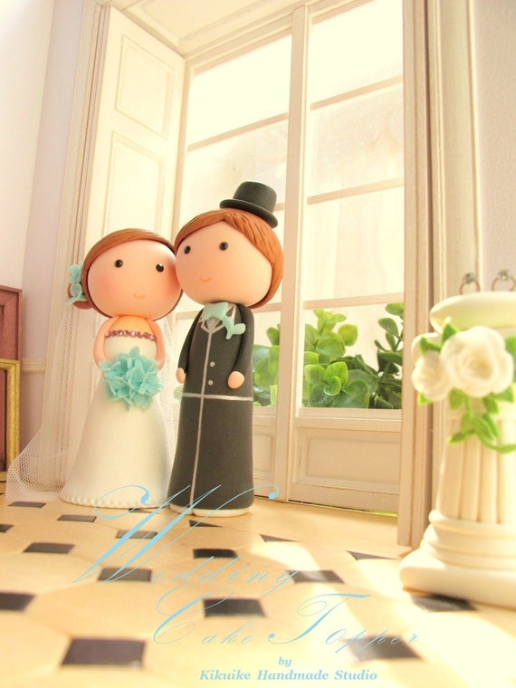 bride and groom ---Couple wedding cake topper (K203)