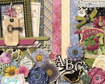 Grafica Botanica Digital Scrapbook Kit