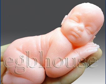 3D Silicone Soap Mold-Lifelike Baby Girl Abbie (2 parts assembled mold)- Buy from Original Designer - Say no to copy cats